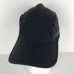 Brooks Accessories - Brooks Run Happy 5 Panel Baseball Cap Hat, Black